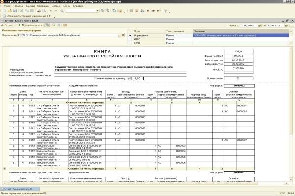 Бланки Строгой Отчетности Учет в Бюджетном Учреждении